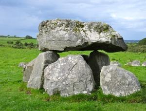 The stone circle at Carrowmore.