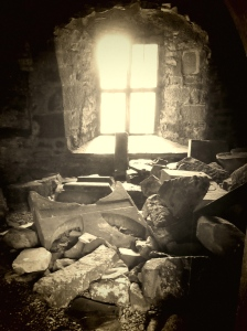 In the Franciscan Moyne Abbey (1462 A.D.) in County Mayo.